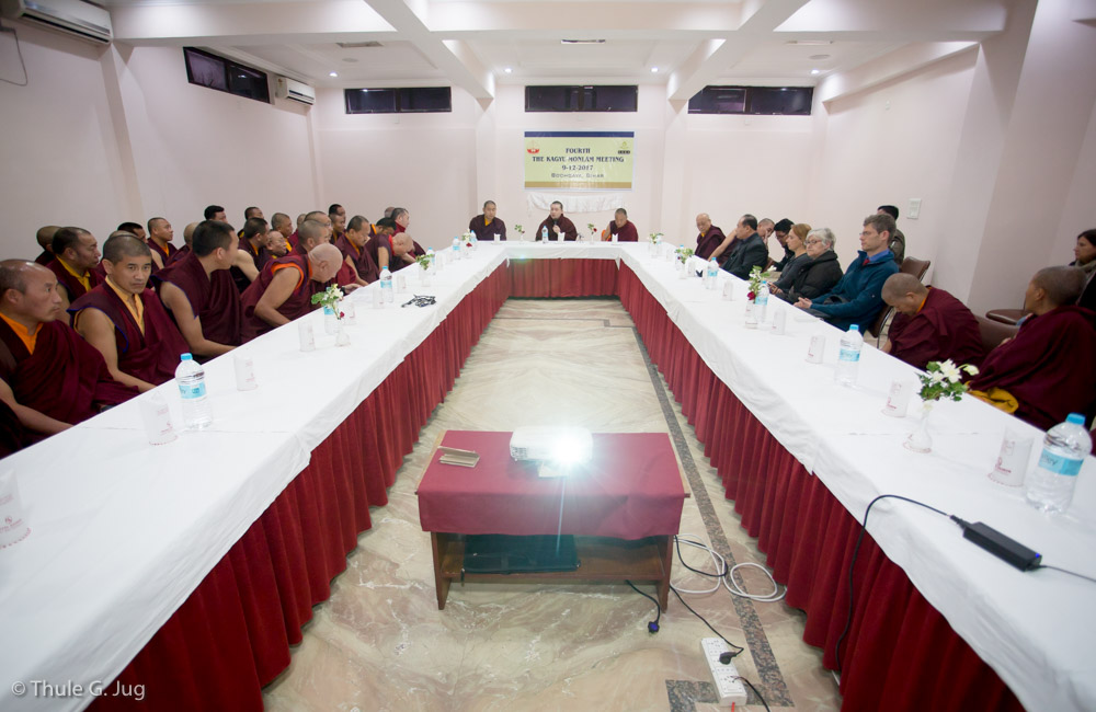 The 4th Kagyu Monlam Meeting with HH Gyalwa Karmapa and representatives from monasteries and different organisations