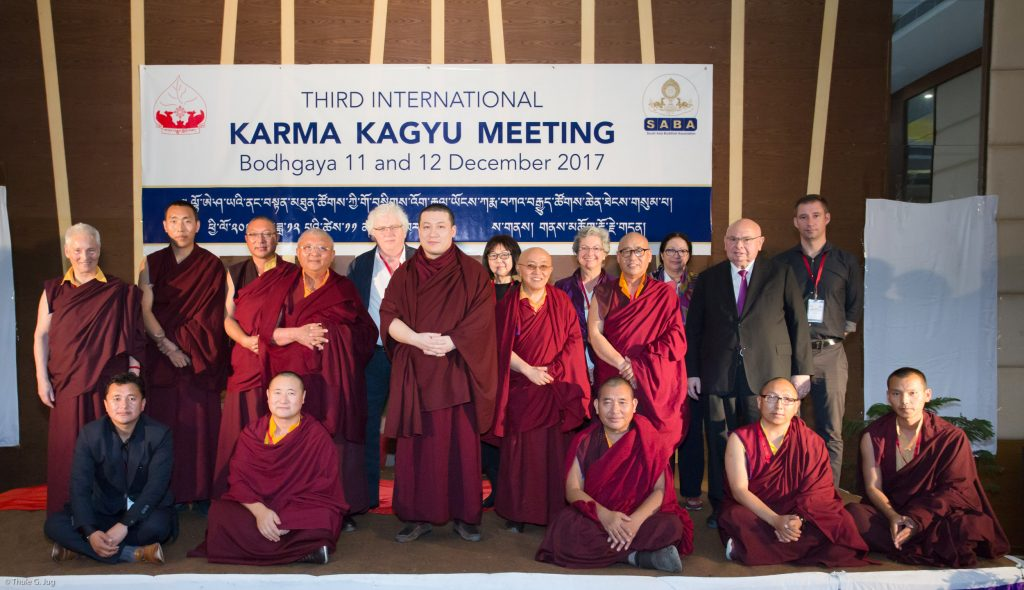 Second day of the Third Karma Kagyu Meeting. Group pictures with all speakers