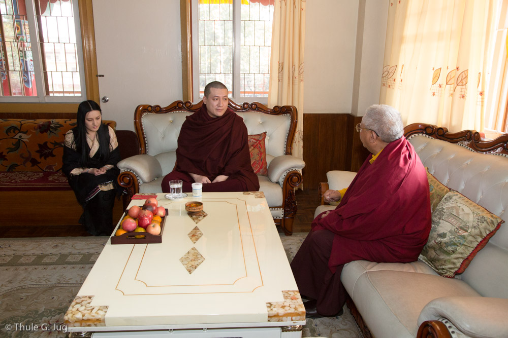 Jigme Rinpoche meets Gyalwa Karmapa and Sangyumla