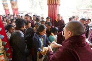Gyalwa Karmapa in Bodh Gaya, Dec. 6 to 23, 2017. Audiences