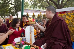 Gyalwa Karmapa in Bodh Gaya, Dec. 6 to 23, 2017. Kagyu Monlam