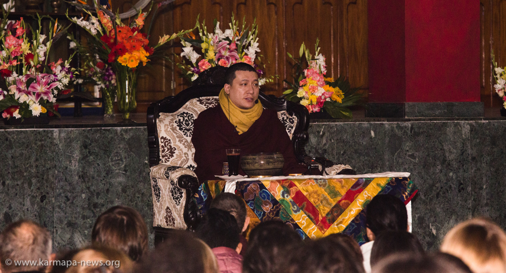 Thaye Dorje, His Holiness the 17th Gyalwa Karmapa, teaching during the Public Meditation Course 2018 at Karmapa International Buddhist Institute (KIBI)