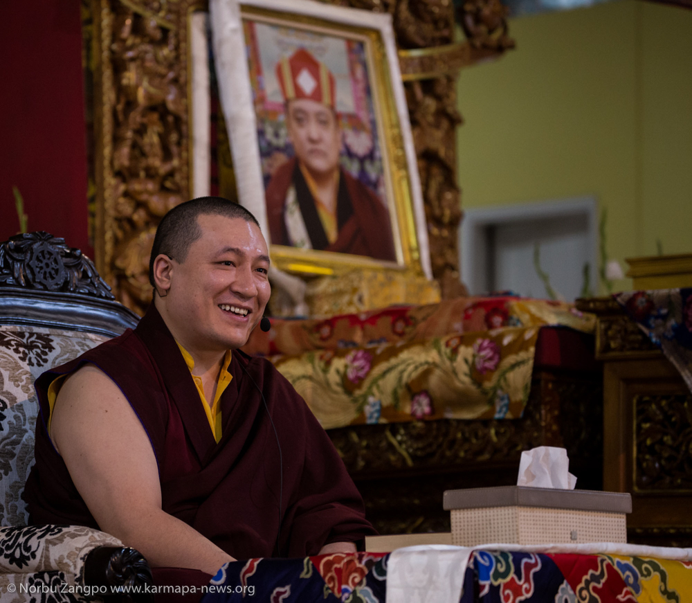 "Thaye Dorje, His Holiness the 17th Gyalwa Karmapa teaching 5th Chapter of Shantideva's ""A Guide to the Bodhisattva's Way of Life"""