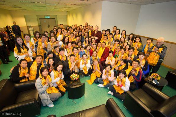 Gyalwa Karmapa meets 2 groups from Tibet before the Chenresig Empowerment