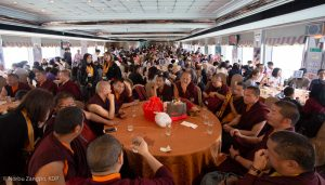 Karmapa in Hong Kong, 2018-03-31 to 04-09. Fish Release Ceremony