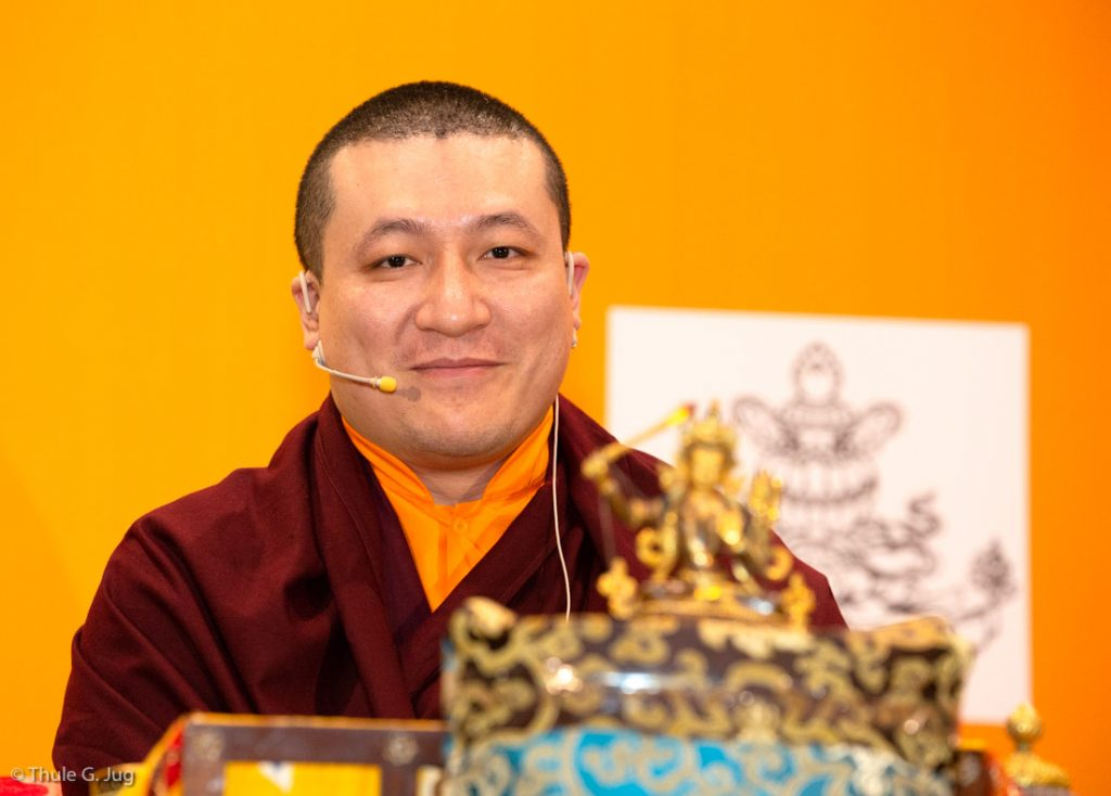 Thaye Dorje, His Holiness the 17th Gyalwa Karmapa, gives a dharma teaching and responds to questions from students