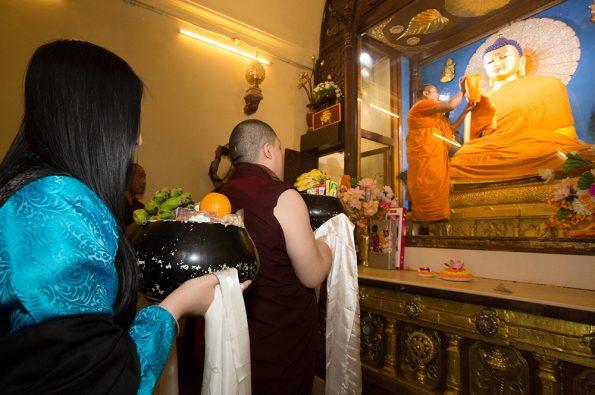 Gyalwa Karmapa in Bodh Gaya, Dec. 6 to 23, 2017. Kagyu Monlam