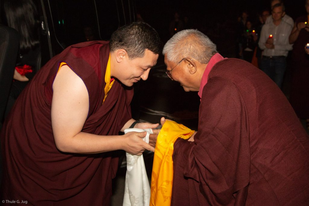 Thaye Dorje, His Holiness the 17th Gyalwa Karmapa, and Jigme Rinpoche, Karmapa's General Secretary
