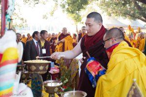 haye Dorje, His Holiness the 17th Gyalwa Karmapa, at the Kagyu Monlam in Bodh Gaya, December 2018