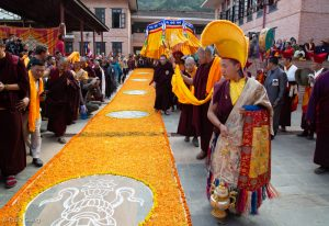 Karmapa arrives at Sharminub