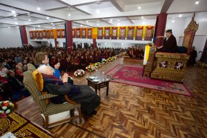 Thaye Dorje, His Holiness the 17th Gyalwa Karmapa gives a long-life empowerment