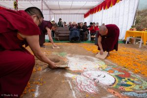 Symbolic groundbreaking ceremony for the new monastery Karma Karsal Ling