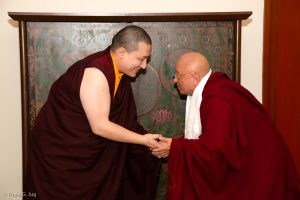 Karmapa and Chokyi Nyima Rinpoche