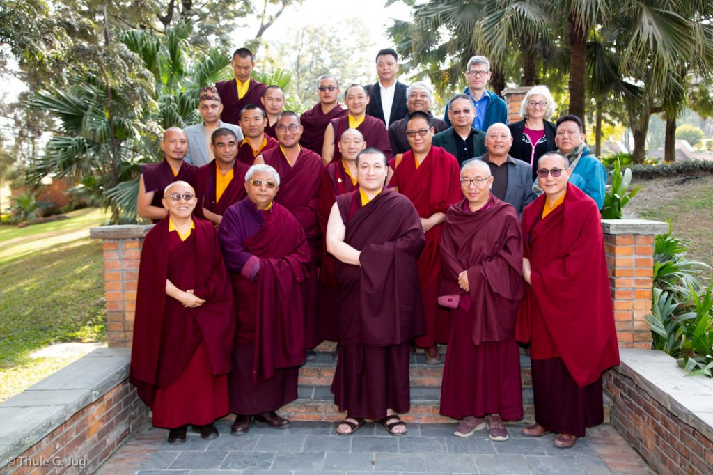 Group picture with representatives of KRMV; Sharminub; Thaye Dorje Foundation and Bodhi Dana Trust