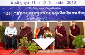 Day three of the Fourth International Karma Kagyu Meeting in Bodh Gaya. Jigme Rinpoche, Karmapa's General Secretary, joins a panel on stage