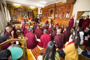 Simon Cohen 20 hours ago In the presence of Karmapa, Sangyumla, and venerable monks from various Karma Kagyu monasteries, His Eminence Luding Khenchen Rinpoche led the hair-cutting ceremony for Thugsey