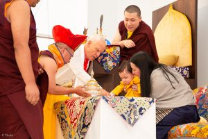 Traditional welcome ceremony for Thaye Dorje, His Holiness the 1