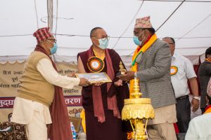 Handover ceremony of reconstructed KRMV Monastery and Pujari hou