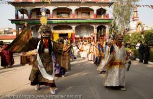 Mahakala-dance-at-Beru-Khyentse-Rinpoches-Monastery-in-Bodhgaya