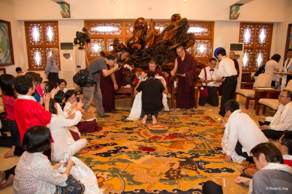 Karmapa-visits-Taiwan-Audiences-before-departure