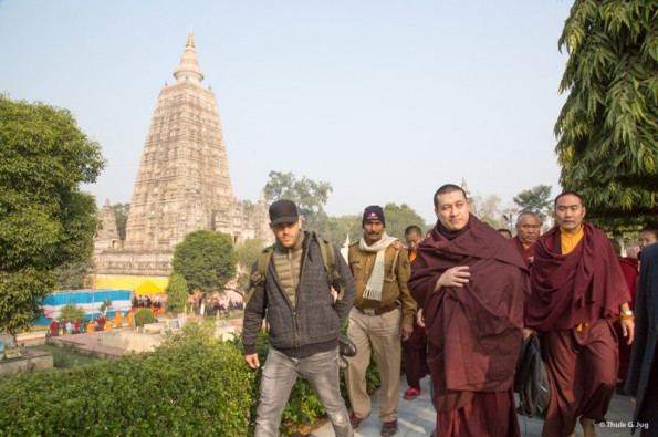 Kagyu-Monlam-2014.-1st-visit-of-Gyalwa-Karmapa-at-the-stupa.-©-2014-Thule-G.-Jug