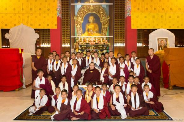 Karmapa-gives-refuge-to-children-from-Tilopur-Monastery