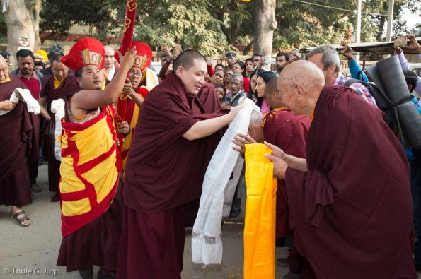 Gyalwa-Karmapa-in-Bodh-Gaya-Dec.-6-to-23-2017.-Arrival