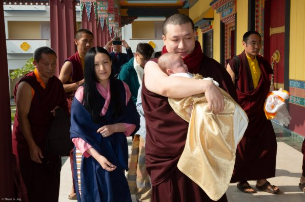 Gyalwa-Karmapa-and-his-family-come-to-KIBI-with-their-son-Thugsey-for-the-first-time