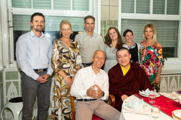 Thaye-Dorje-His-Holiness-the-17th-Gyalwa-Karmapa-shares-dinner-with-Lama-Ole-and-guests-at-The-Europe-Center-in-Germany